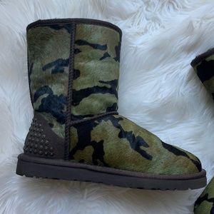 f1119e3bc6cb3 UGG Shoes   Green Camo Rowland Calf Hair Sheepskin Boots   Poshmark